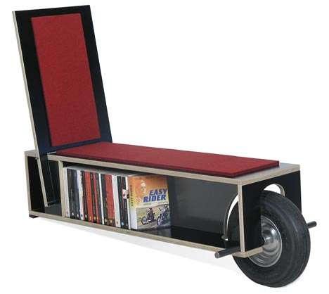 Rolling Bookshelf Seating