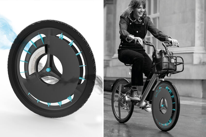 Air Pollution-Capturing Bike Wheels