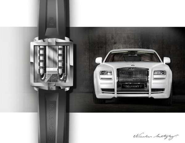 Ultra-Luxury Sedan Timepieces : Rolls Royce watch