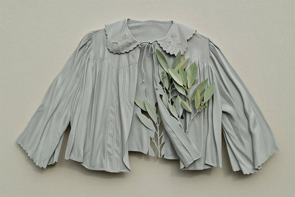 Deceptively Flowing Clothing Sculptures