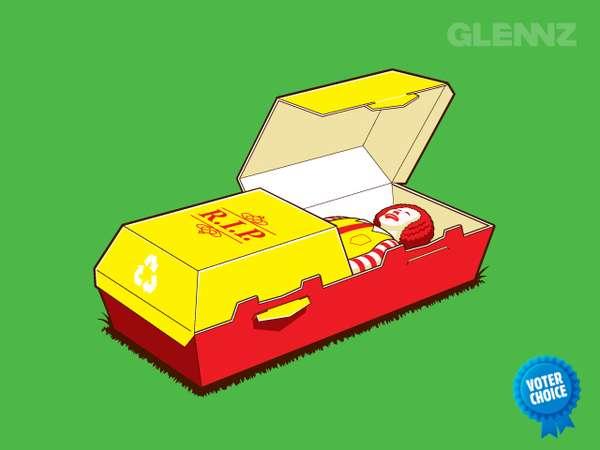 Burger Boxes as Coffins