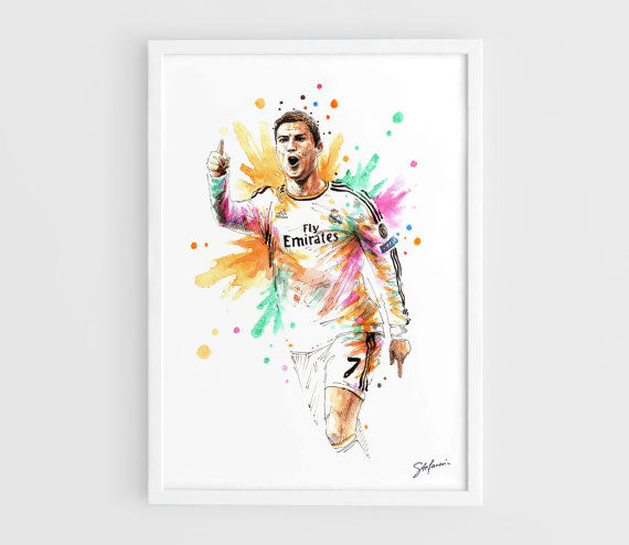 Striking Soccer Star Paintings