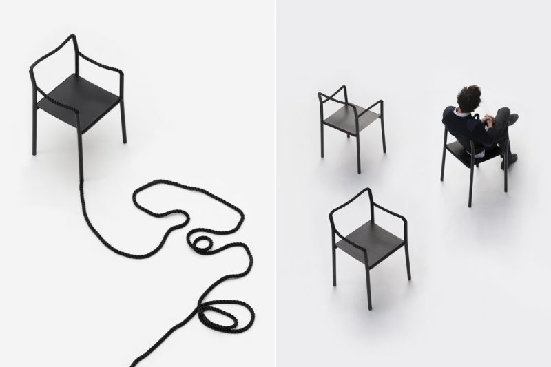 Pliable Rope-Accented Seating