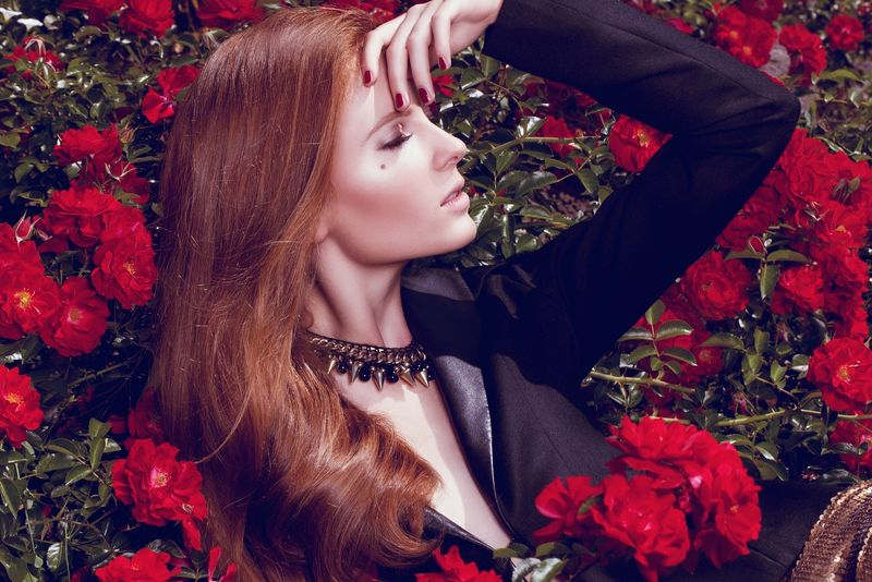 Red-Haired Elegance Editorials