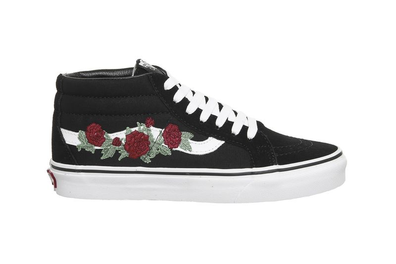 Embroidered Floral Skate Shoes