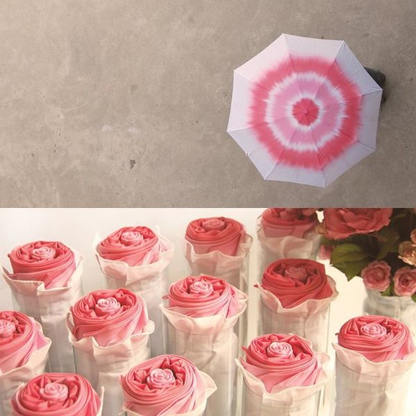 Folded Floral Umbrellas