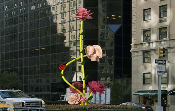 25-Foot Flower Sculptures