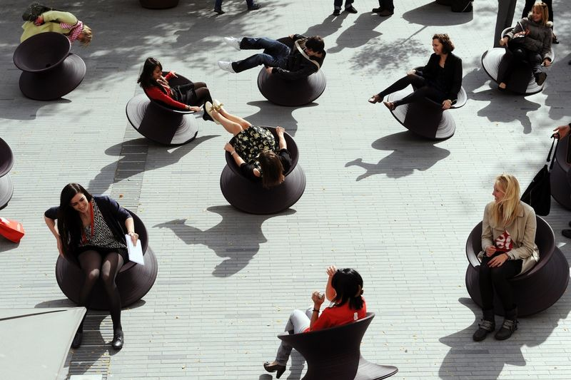 Playful Spinning Top Chairs