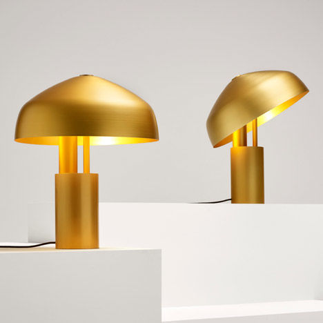 Golden Revolving Lamps
