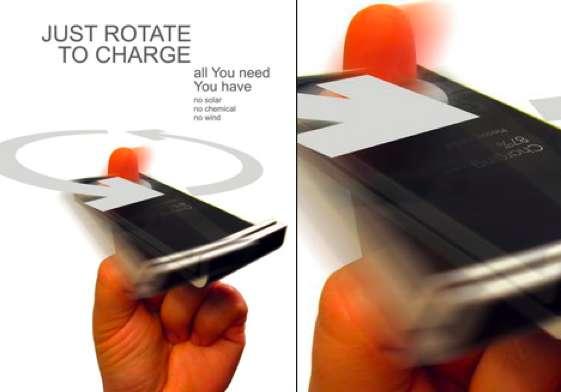 Fidget-Powered Smartphones