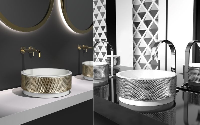 Luxurious Glass-Made Sinks