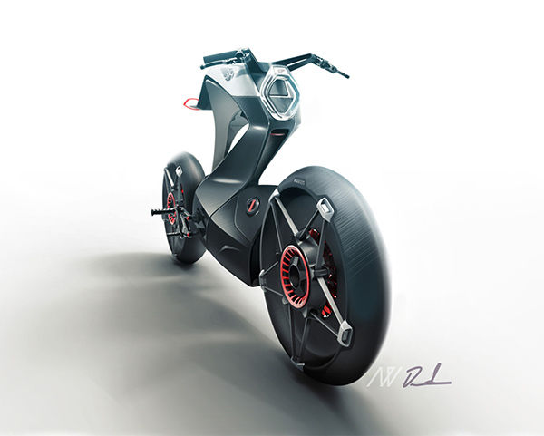 Contemporary Cantilevered Mopeds