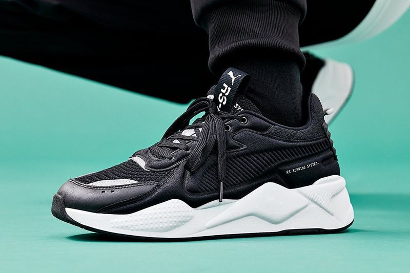 80s-Inspired Monochromatic Sneakers
