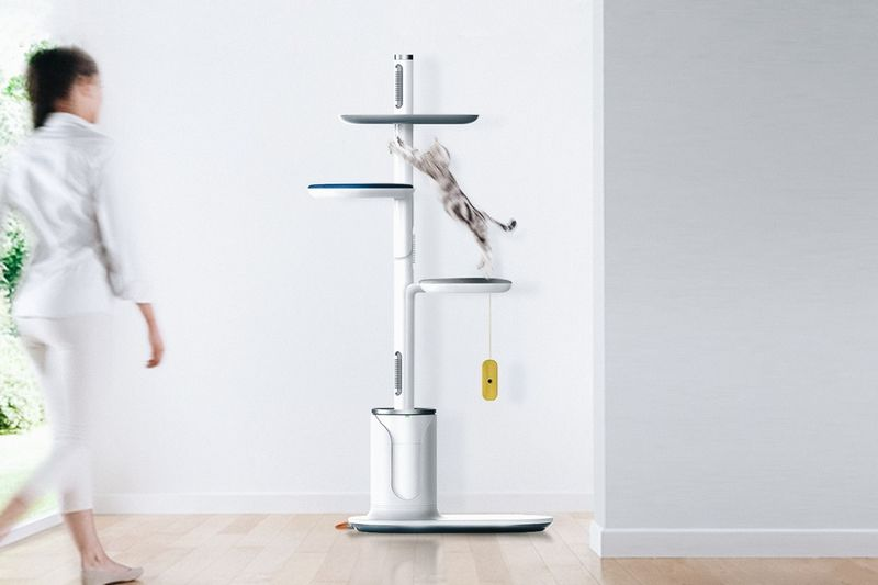 Cat-Grooming Play Towers