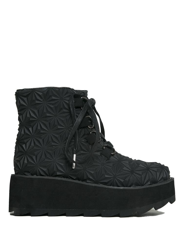Tire-Themed Combat Boots