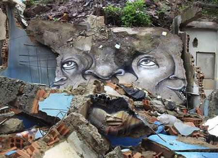 Rubble as a Canvas