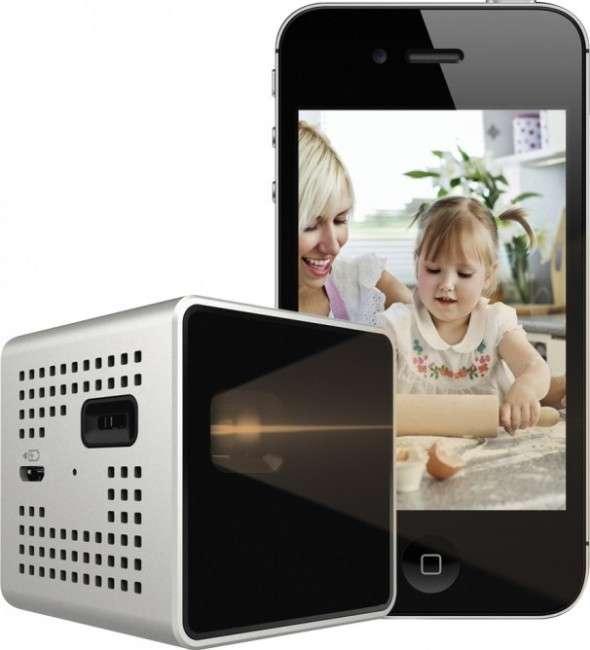 Compact Cubic Phone Projectors