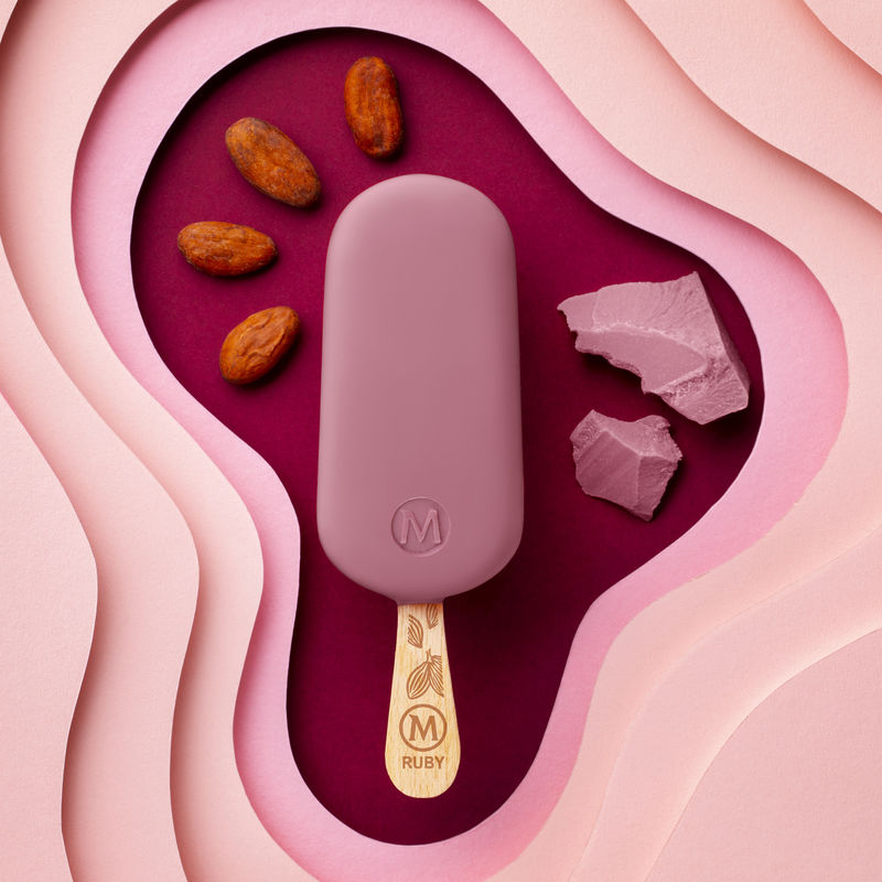 Pink Chocolate Ice Cream Bars