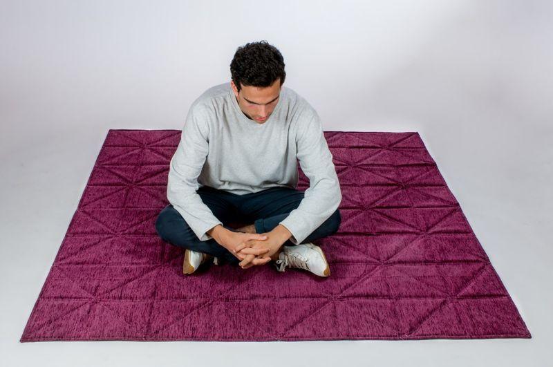 Folding Origami Carpets