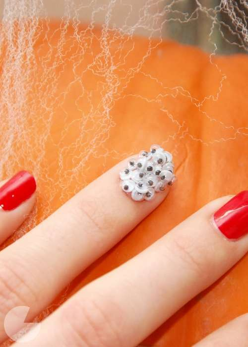 Spooky Googly-Eyed Manicures