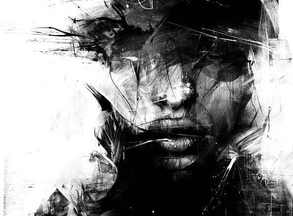 abstract fashion illustrations russ mills