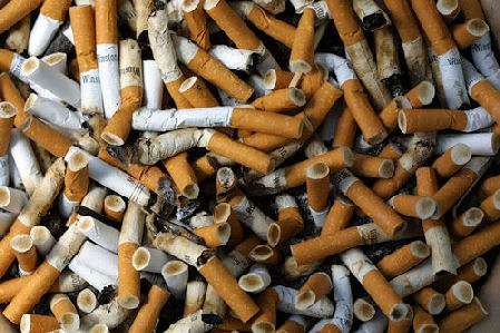 Rust-Inhibiting Cigarette Butts