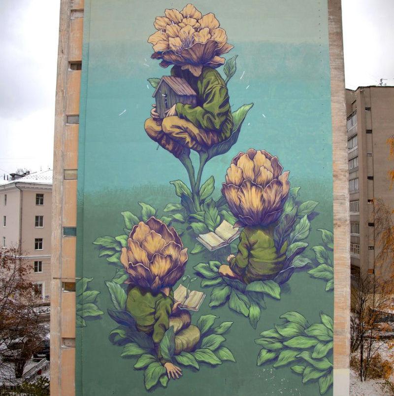 Surreal Blossom Murals