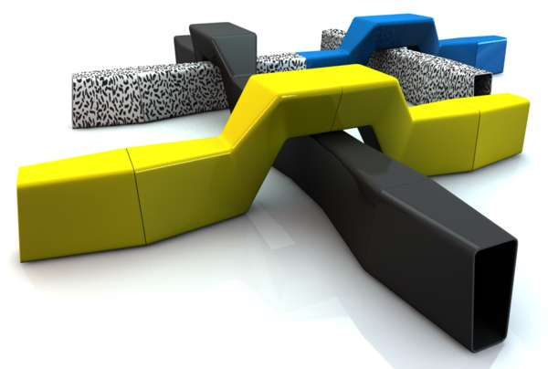 Wacky Interwoven Seating