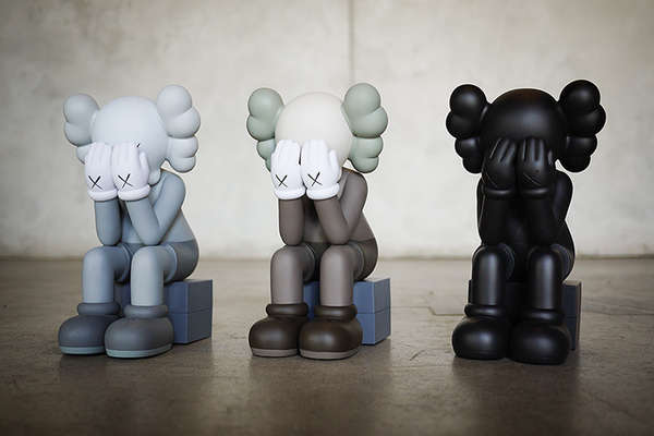 Crying Cartoon Clown Figurines