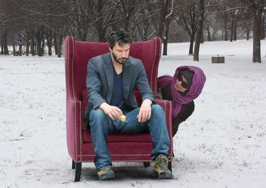 Chair-Sitting Memes : Sad Keanu Reeves