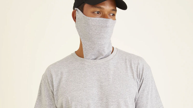 Face Covering-Equipped Tees
