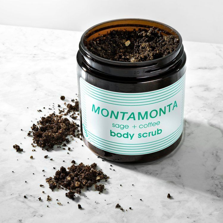 Repurposed Coffee Scrubs - MontaMonta's Sage + Coffee Body Scrub Uses Spent Cafe Coffee Grounds (TrendHunter.com)