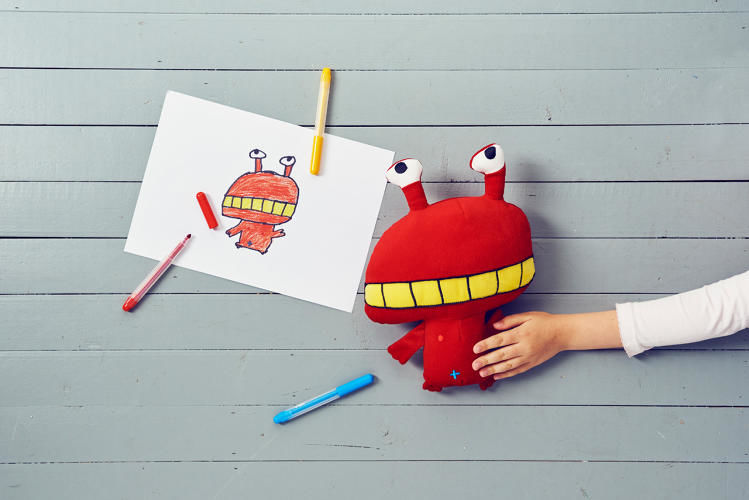 Kid-Drawn Stuffed Toys