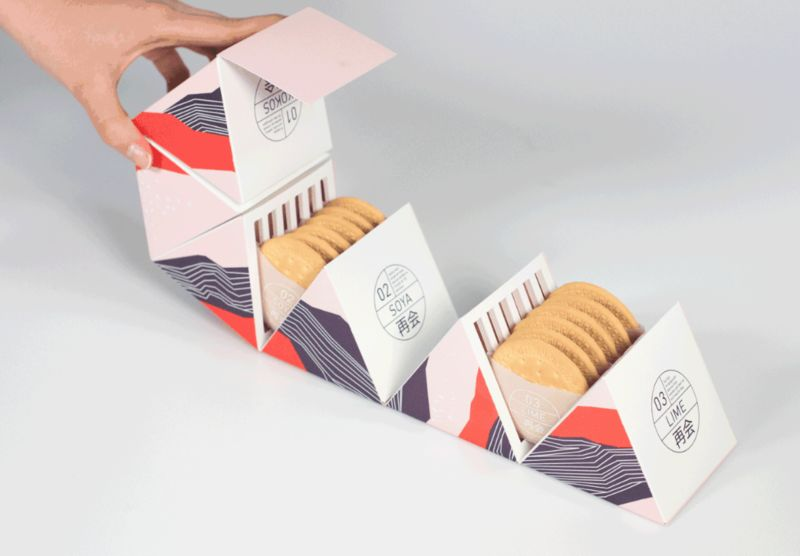 Hexagonal Cookie Packaging Concepts