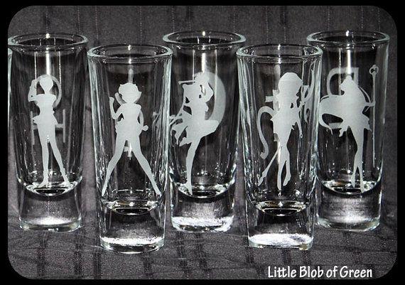Brand-new Anime Silhouette Shot Glasses : Sailor Moon shot glasses LW07