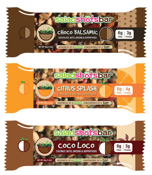 Salad-Based Nutrition Bars