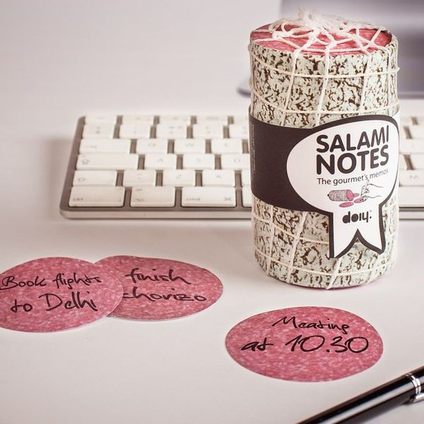 Salami-Inspired Sticky Notes