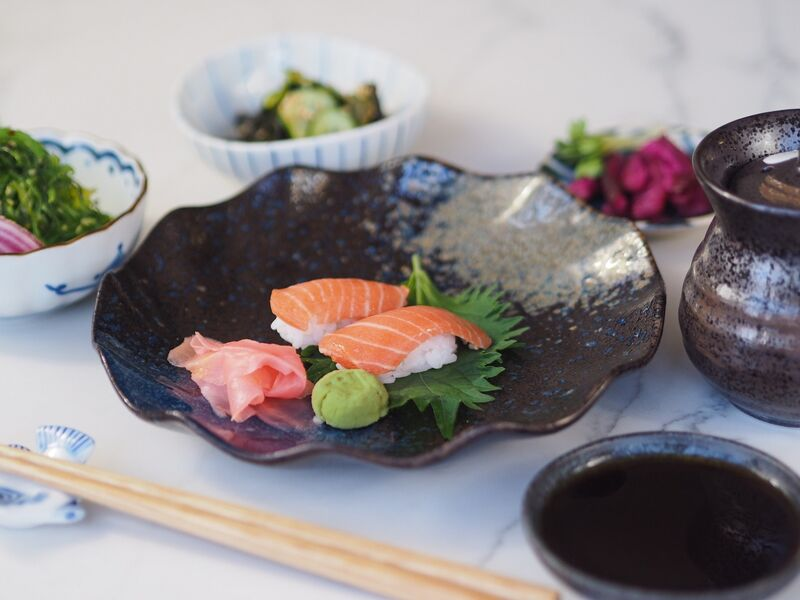 Cell-Based Salmon Sushi