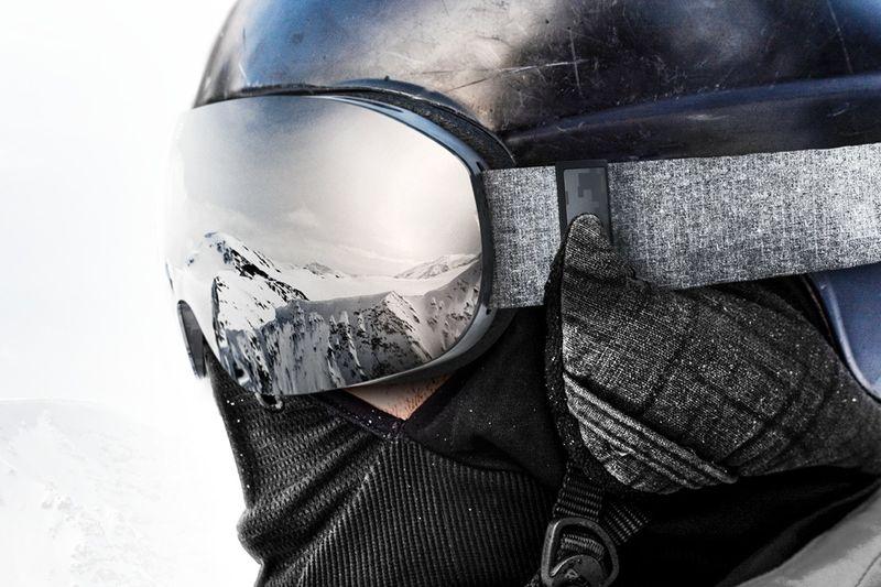 Emergency Beacon Ski Goggles
