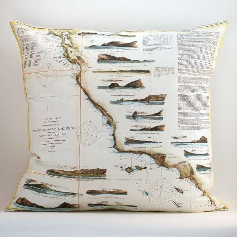 Cartogram-Clad Cushions