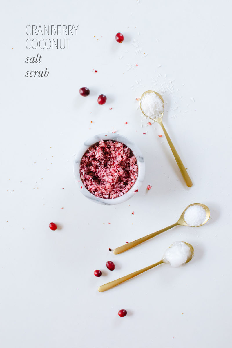 Homemade Cranberry Scrubs