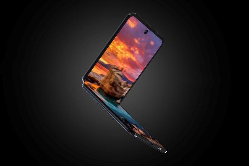 Conceptual Clamshell Smartphones