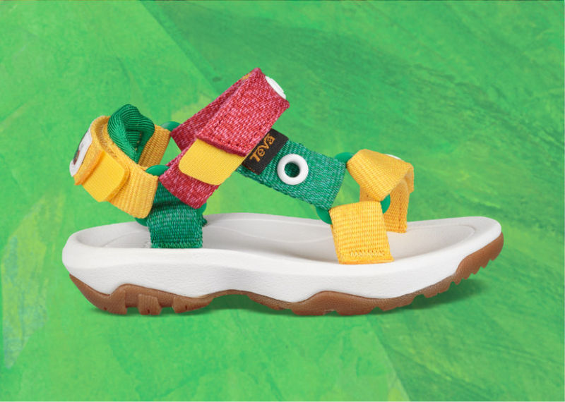 Classic Storybook Sandals - Teva's Sandals for Kids Celebrate The Very Hungry Caterpillar (TrendHunter.com)