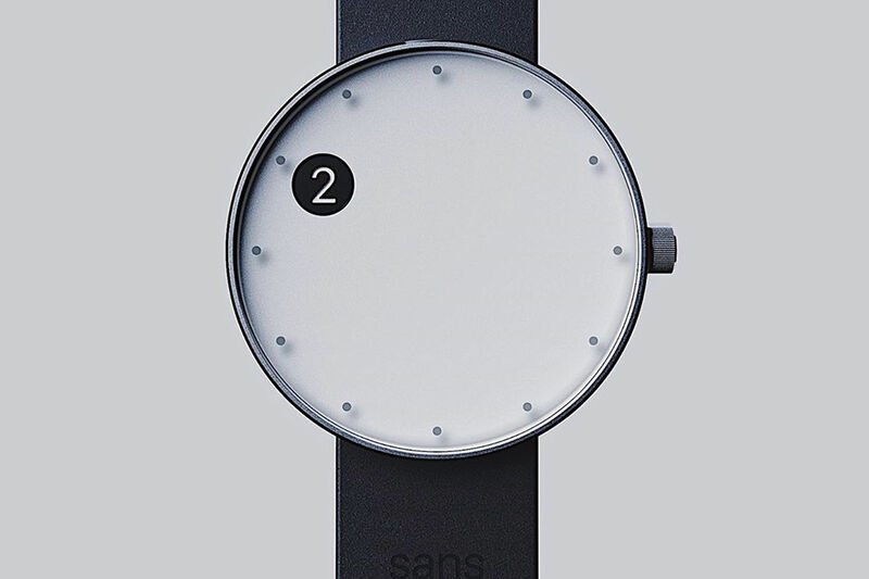 Minimalist Shifting Cutout Timepieces