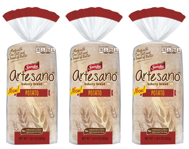 Prepackaged Artisanal Potato Breads