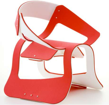 Curvaceous Flat-Pack Furniture
