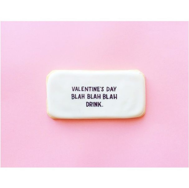 Sarcastic Valentine's Day Cookies