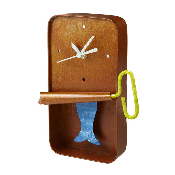 Fishy Tin Timepieces Sardine Wall Clock