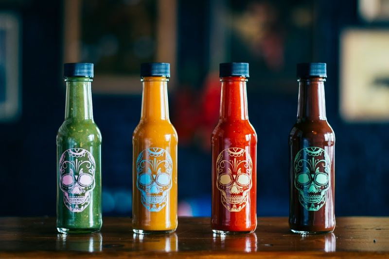 Sugar Skull Sauce Packaging