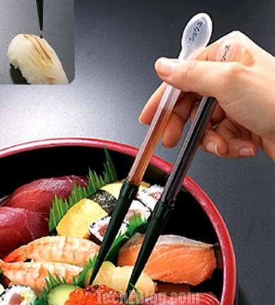 Sauce Despensing Chopsticks